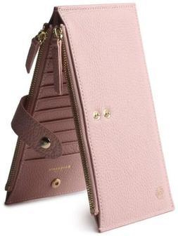 Borgasets Women's Wallet Credit Card Holder Genuine Leather