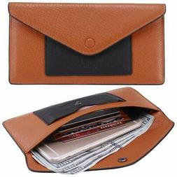Itslife Women's Wallet Leather RFID BLOCKING Ultra Thin Enve