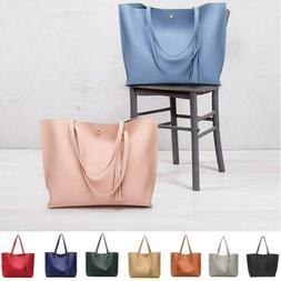 Women Synthetic Leather Handbag Ladies Shoulder Bag Purse Me