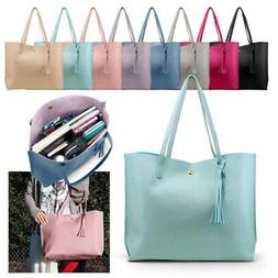 women synthetic leather handbag shoulder ladies purse