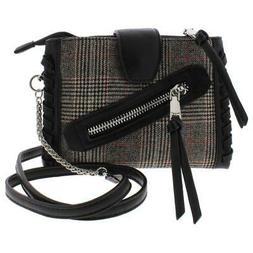 BCBGeneration Womens Aubry B/W Wool Crossbody Handbag Purse