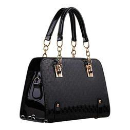 Womens Black Pocketbooks Beautiful Patent Leather Purses & H