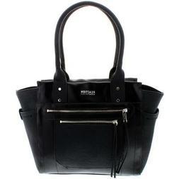 Kenneth Cole Reaction Womens Christine Black Satchel Handbag