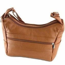 Womens Genuine Leather Purse Adjustable Strap Mid Size Multi