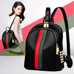 Womens Girls PU Leather Backpack Trendy Pattern Travel Shoul