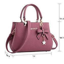 Dreubea Womens Handbag Tote Shoulder Purse Leather Crossbody