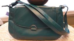 Womens Jrs Small Shoulder Bag Crossbody Purse Teal Green Cas