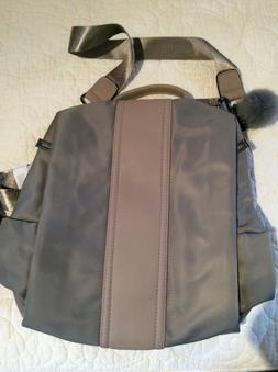 Women's Pincnel Khaki Backpack Purse School/Shoulder Bag N