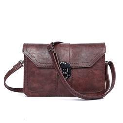 Womens Leather Small Crossbody Bags Cell Phone Wallet Purse