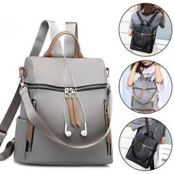 Womens Nylon Backpack Purse Waterproof Anti-Theft Rucksack S
