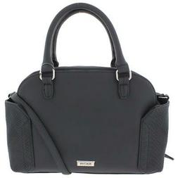 Kenneth Cole Reaction Womens Parkchester Black Satchel Handb