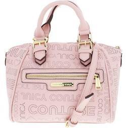 Juicy Couture Womens Promenade Pink Logo Satchel Handbag Pur