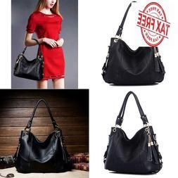 Dreubea Womens Soft Leather Hobo Handbag Large Size Tote Sho