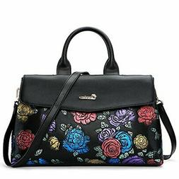 ZOOLER Leather Handbags for Women Crossbody Bags Large Purse
